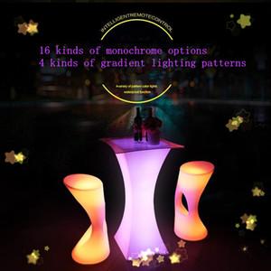Nueva Led luminoso bar mesa de plástico iluminó creciente Tabla Cocktail Bar Night Club Para Cafetería iluminación creativa Muebles