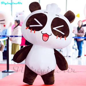 Мультфильм панды кожи персика костюма панды 2м пригодный для носки Раздувной идя