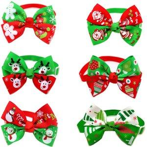 Vente en gros de vacances de Noël Chien Chat Collier Noeud papillon réglable de toilettage pour chiens Collier de chat Accessoires Pet Supplies Produit de Noël