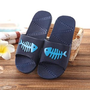 Unisex Kawaii Patterns simpatico pesce amanti Sweethearts Slipper casa Beach Estate scarpe basse Anti scivola pantofola pantofole da bagno