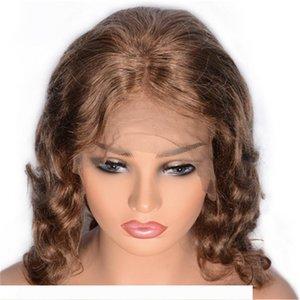 Cambodian Curly Glueless Spitze-Front-Perücken Pre Zupforchester Menschenhaar-Spitze-Perücken Natürliche Haarlinie 8 # Haar-Perücken