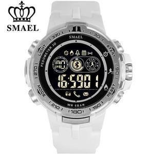 SMAEL Bluetooth Smart Watch Podomètre Calories Chronographe Sports de Plein Air LED Montres Militaires pour Android iPhone Horloge Hommes