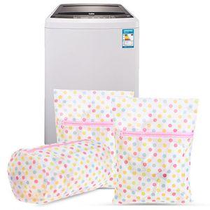 Waschen Pflege Wäschesäcke 30 * 40 CM Druck Wäschesack Kleidung Waschmaschine Wäschehose Dessous Mesh Net Wash Bag Beutel Korb DH0962