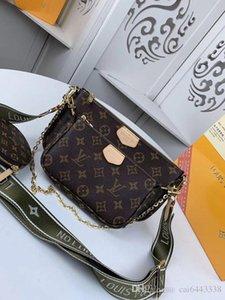 지갑 지갑 # 5977 브랜드 L 최고 품질 MULTI 포 셰트 액세서리 디자인 V 어깨 가방 패션 여성 3PCS 가방 44813 44823 44840