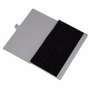 High Quality Monolayer Aluminum for 1SD+ 8TF Micro for SD Cards Pin Storage Box Case Holder Anti-magnetic Anti-dust Shock-proof