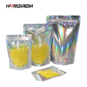 HARDIRON 100pcs Hochwertige Laser Stehen Seal Zipper-Verschluss-Beutel-Aluminiumfolie Wiederverschließbare Verpackung Beutel Hologram-Geschenk-Beutel