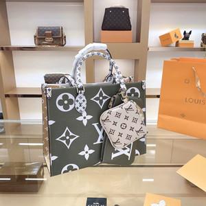 2020 LVLOUISVUITTONHandtaschen Art und Weise Retro Ethno-Stil Leinwand handgemachte Stickereimuster Einkaufstaschen