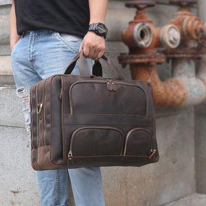 MAHEU 3 Vôo Zipper Bolsa Pasta de Capcity Capcity Capcity Bolsa para Homens Couro Viagem Negócio Breve Caso Laptop Bag Plewg