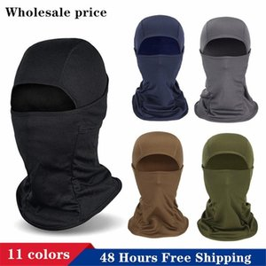 DHL Ship Full Face Mask Thermal Warmer Cycling Hood Liner Sports Ski Bike Riding Snowboard Shield Hat Cap Anti UV Wind Headscarf Headgear