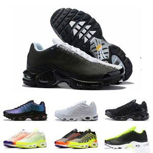2020 New arrivel TN plus running shoes for men White black Orange Volt Color Flip HYPER CRIMSON sports sneakers trainers size 40-45