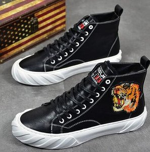 New arrival Men's Casual Shoes high tops Platform shoeS Men young board shoes Ankle boots hip hop Street dancing shoe punk loafers sp212