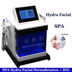 5 em 1 Cooling RF BIO Microcurrent frente da máquina de elevação Ultrasonic Massagem Hydrafacial Microdermabrasion do Aqua Hydra Peeling máquina de elevação Facial