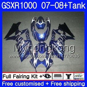 Kit + tanque para SUZUKI GSX R 1000 GSXR1000 GSXR 1000 2007 2008 301HM.55 GSXR1000 caliente azul caliente 07 08 Cuerpo K7 GSXR1000 07 08 carenado 7Gifts