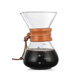 Toptan Yüksek Sıcaklığa Dayanıklı Cam Kahve Makinesi Cezve Espresso Kahve Makinesi ile paslanmaz çelik filtre pot