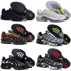 tn plus Metallic White Silver triple black men Kids Casual Shoes tn plus trainer sneaker shoes