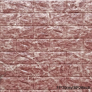 3D Stereo Brick Waterproof Wallpaper Stone Brick Background Wall Stickers Wall Paper Creative Living Room Hotel Wallcovering DBC DH1157-2