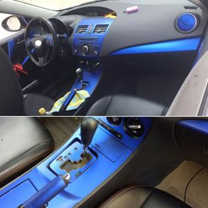 Para Mazda 3 2010-2015 Interior Interior Central Control Panel Manija de la puerta 3D / 5D Pegatinas de fibra de carbono Calcomanías Accesoriales