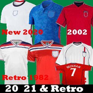 Yeni 2020 2021 ingiltere futbol formaları 20 21 sterlin kane Gerrard Retro BECKHAM 1982 Heskey ROONEY 2002 Retro Lampard Futbol Gömlek Çocuklar