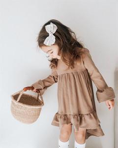 Сладкие девушки цветка платье принцессы Дети Свадьба День рождения партии вскользь Outfit