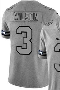 Hanf Ash Throwback Limited Jersey Männer Mann Seattle 3 Jersey Shirts Alle Teams American Football-Trikots