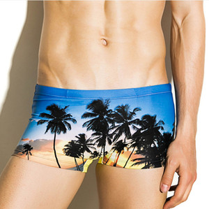 SEOBEAN Maillots de bain Maillots sexy maillot de bain Photos Hommes Nylon Bikini Boxer maillot de bain de plage Gay Male Swim Trunk taille basse