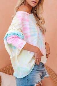 Gratuit pour Dhl Pyjama Tiedye Pour Femmes Pigiama Da Donna Per GIROCOLLO Tye Dye court violet clair Rick et Morty shirt Tie powerstore2012 irs