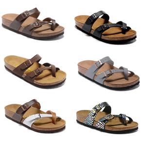 805 Mayari Arizona Gizeh 2018 street summer Uomo Sandali piatti donna Pantofole sughero unisex Sandali sandh casual stampa mista sandali da spiaggia