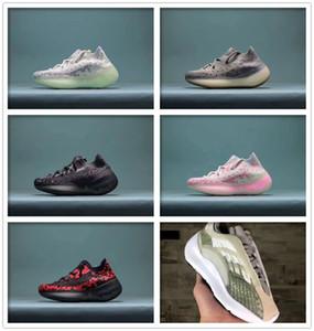 Nuevos 38 V2 Alvah Infantes para niños de los zapatos corrientes niñas zapatilla de deporte de los niños los niños pequeños Azael Negro Kanye West Entrenadores de Baloncesto