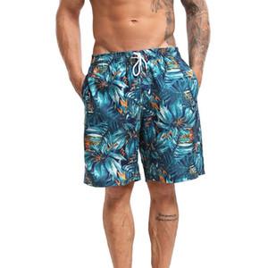 Nueva primavera y verano de los hombres de los troncos de nadada de lazo de los hombres de los troncos de nadada de secado rápido con cordón Beach Surf Correr Natación Pantalones cortos