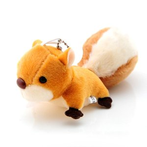Small Squirrel Plush Toy Pendant Oversized Tail Cute Plush Squirrel Keychain Pendant