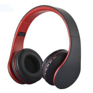 Numérique carte 4 en 1 support stéréo TF FM Bluetooth Casque sans fil Casque bandeau musique avec écouteurs Micphone