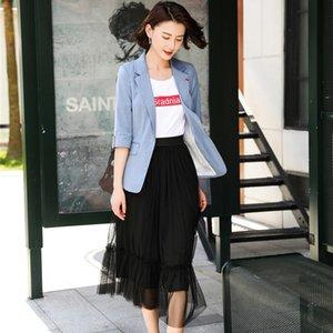 Suits Feminino Saia para as Mulheres de Negócios Suits Jacket e Blazer Define Work Wear Clothes meia luva