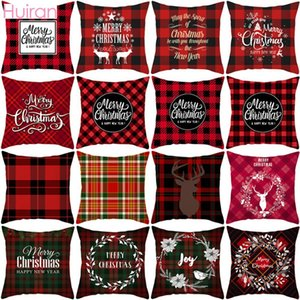 Weihnachten Kissen- Frohe Weihnachten Dekor für Zuhause Sofa Kissenbezug Noel Weihnachtsgeschenke Navidad Weihnachten Cristmas Dekor