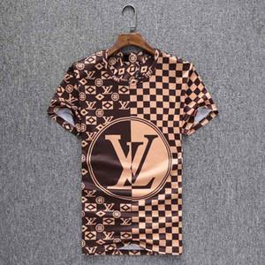 alta calidad de la camisa de polo de los hombres de la moda nueva medusa cuello alzado camiseta de la manera del verano muchachos camiseta de algodón del verano de la camiseta de polo
