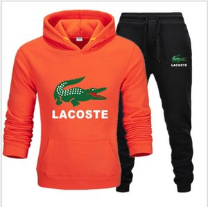 Männer-Sets mit Kapuze Sport-Klage-Trainingsanzug Outfit Suit 2-teiliges Set Anzüge Hoodies lange Hosen Herbst Warm Herrenkleidung Drop Shipping