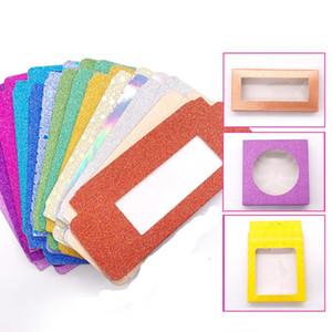 صندوق التعبئة الجديد 50 مجموعة / قطعة لمجموعة الرموش علبة ورق بلون الكرتون مع رموش رمشة رمشة 25 ملم