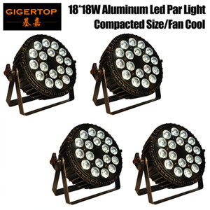 Gigertop 4 Pack LED Par Lights 18x18W DJ LED RGBWAP Par Lights Lavare luce discoteca DMX Controller effetto per Small Paty KTV Stage Lighting