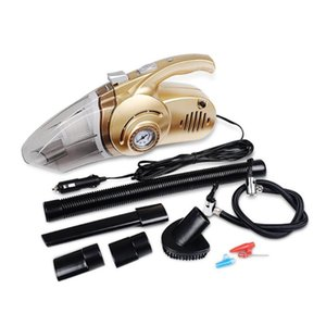 New Portable 4 in 1 Car Dual Use Vacuum Cleaner Handheld Car Auto Inflatable Pump Air Compressor High Power with Digital Display