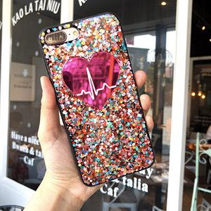 Crystal Love Heart Glitter Bling Star Phone Case Rose pink Soft TPU Frame Back cover Cases for iphone 11 pro max XS X 8 7 Plus 6S 6 Plus