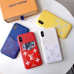 Fundas de teléfono de diseño de lujo para iphone 11 Pro Max XR XS 7 8 plus modelos de cuero PU trasera