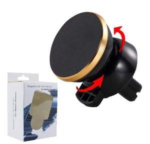 Strong Magnetic Carro Air Vent Mount 360 graus de rotação Universal Mobile Phone Holder Com Pacote grátis DHL Shipping