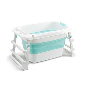 Baby folding bath tub bathing basin baby bath bucket can sit lying child home swimming barrel children's products