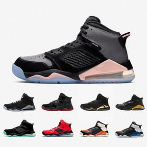 Nike air Jordan Mars 270 shoes air max 270 Zapatos Rojo Fuego Top MARS PSG para hombre de cítricos verdes DMP Tablero Negro metálico gris de los deportes zapatillas de deporte 7-13