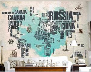 beibehang carta da parati 3d sulla parete interna domestica Vintage lettera wallpaper mappa del mattone