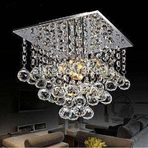 LED Praça Lustre de cristal Lustre Modern Mini lâmpada do teto para Quarto Sala Restaurante aparelho de iluminação