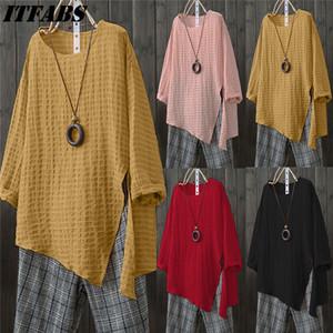 Мода твердые льняная блузка рубашка плюс размер летняя рубашка женская одежда туника Camisetas Mujer топы повседневная рубашка топ тройник