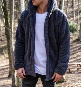 Velvet Jackets Thick Plus Size Winter Coats Solid Color Hooded Pockets Hombres Jacket Mens Designer Warm