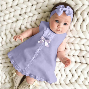 Girl's Dresses 1 Year Baby Girl Birthday Dress For Party With Headband One Christening Clothes