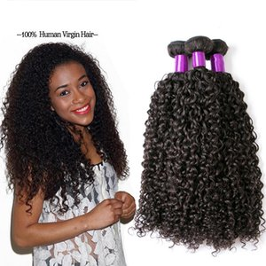 Z &F Natural Look Brazilian Human Hair Kinky Curly Wave Hair Bulks For Black Women Hair Bundles