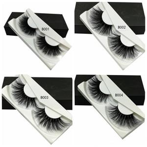 Free Shipping ePacket! 100% Mink Eyelashes 25 mm Wispy Fluffy Fake Lashes 5D Makeup Big Volume Crisscross Reusable False Eyelashes